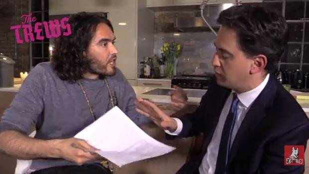 Russell Brand and Ed Miliaband