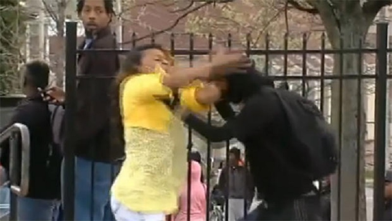 Toya Graham grapples with her son