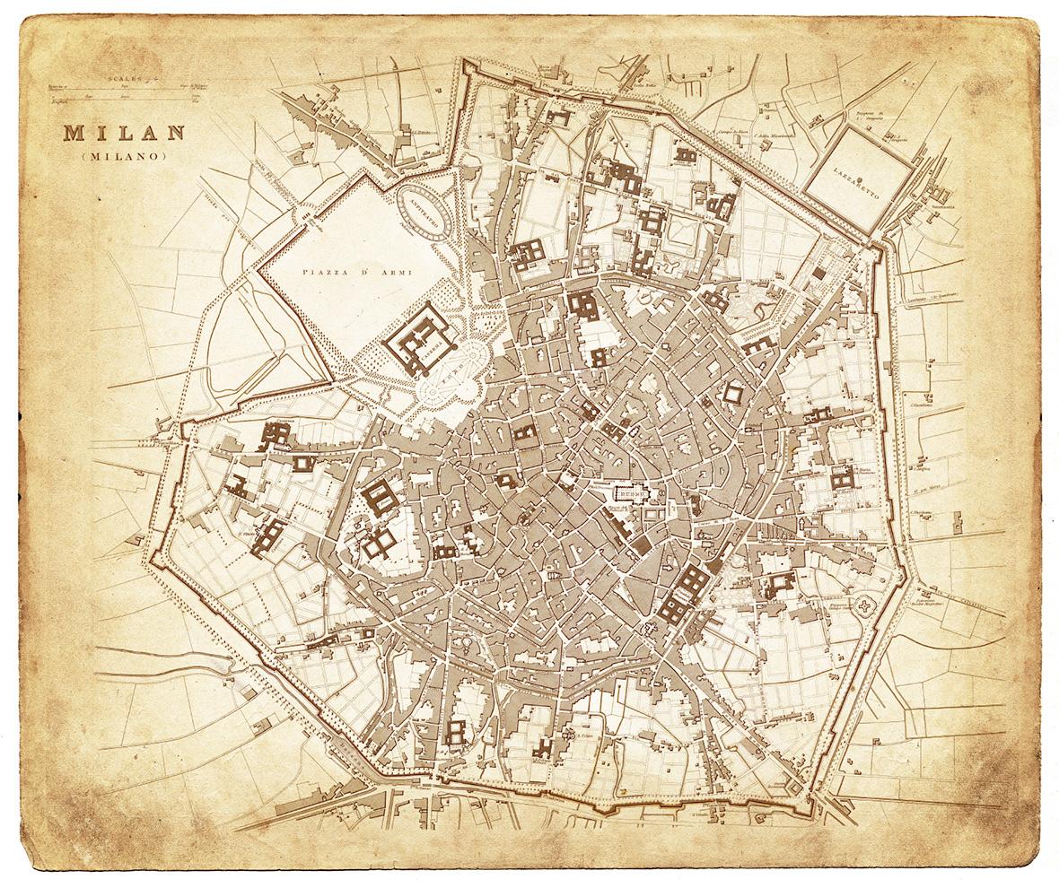 Milan old Map