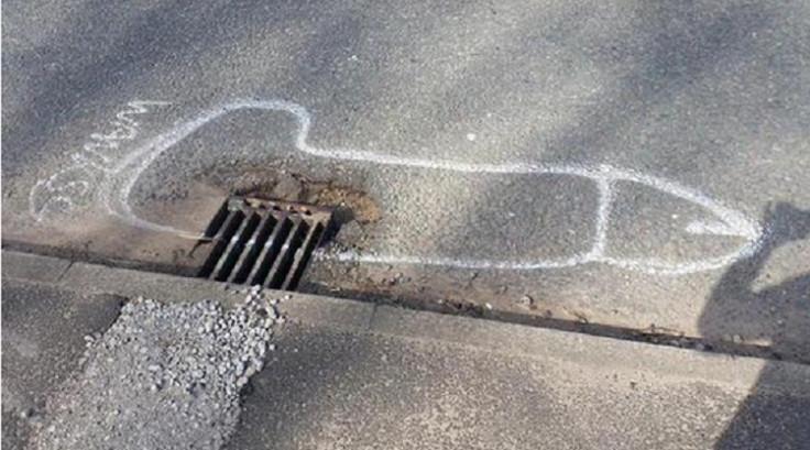 Bury: Wanksy artist draws huge phallic symbols to get potholes fixed