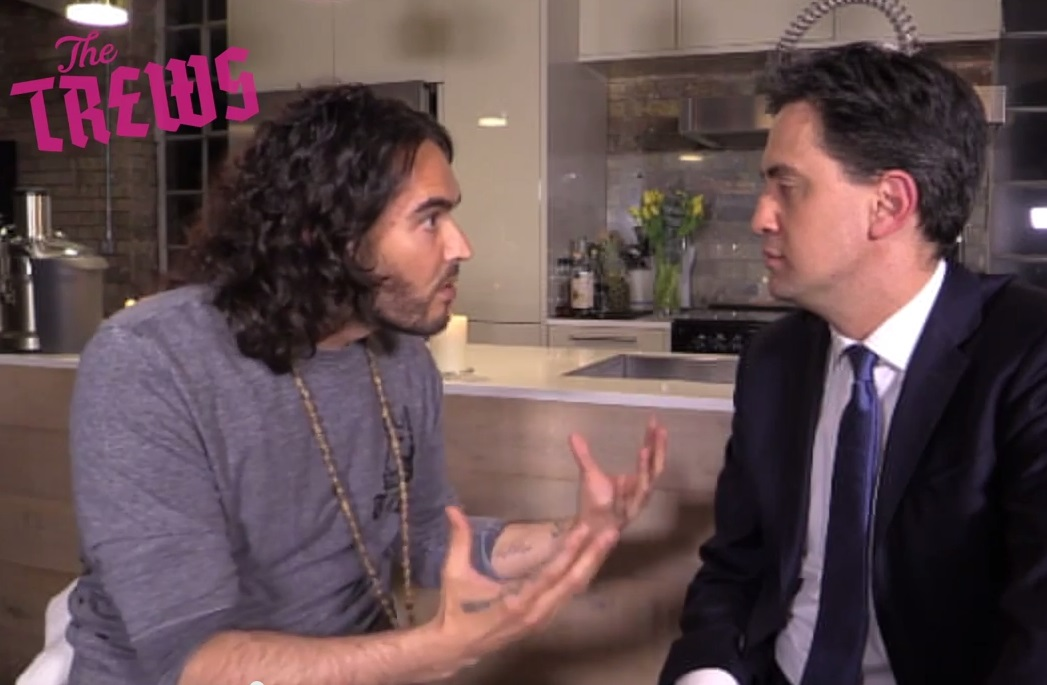 Russell Brand and Ed Miliband