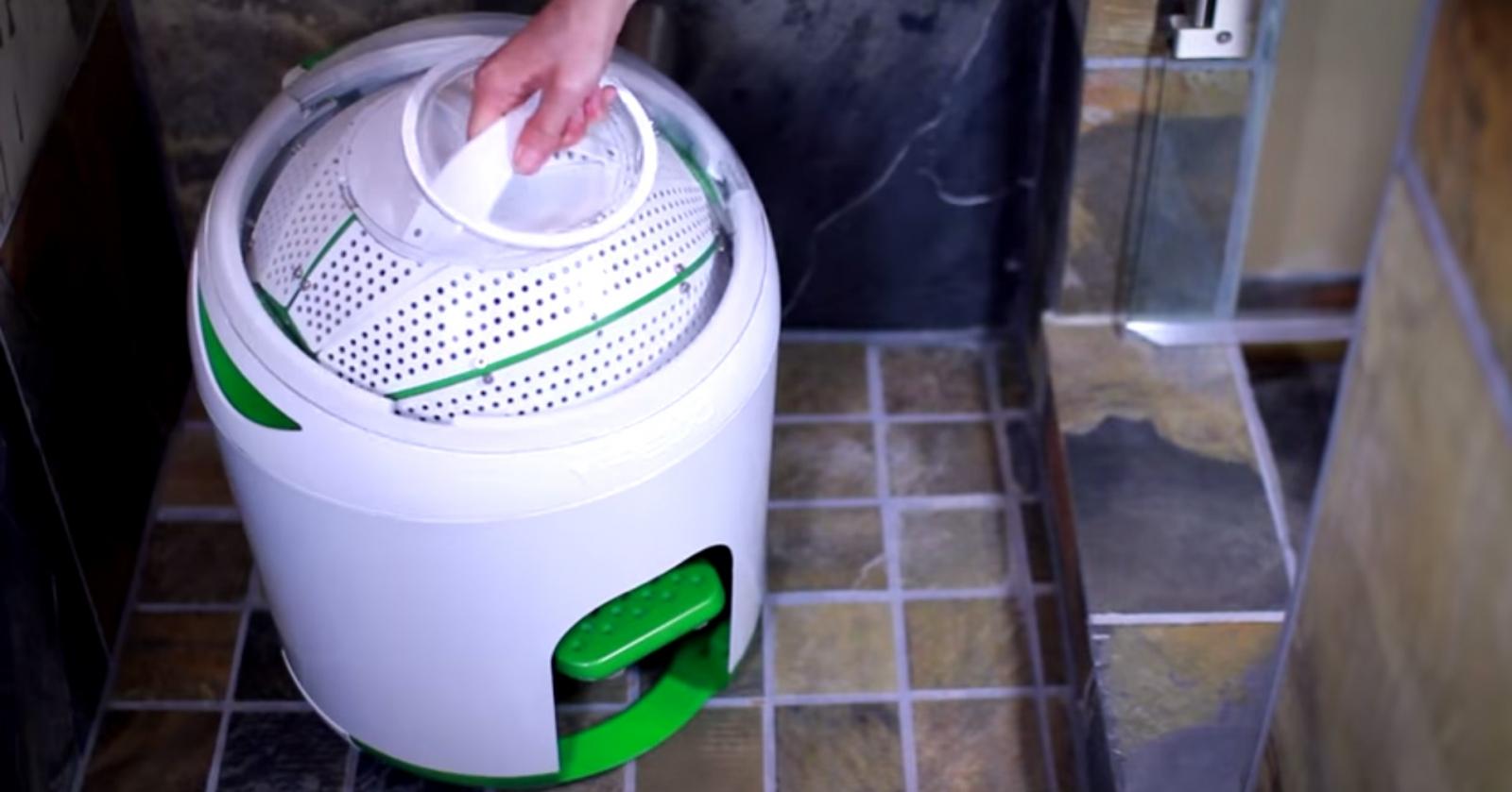 The Yirego Drumi foot-powered washing machine