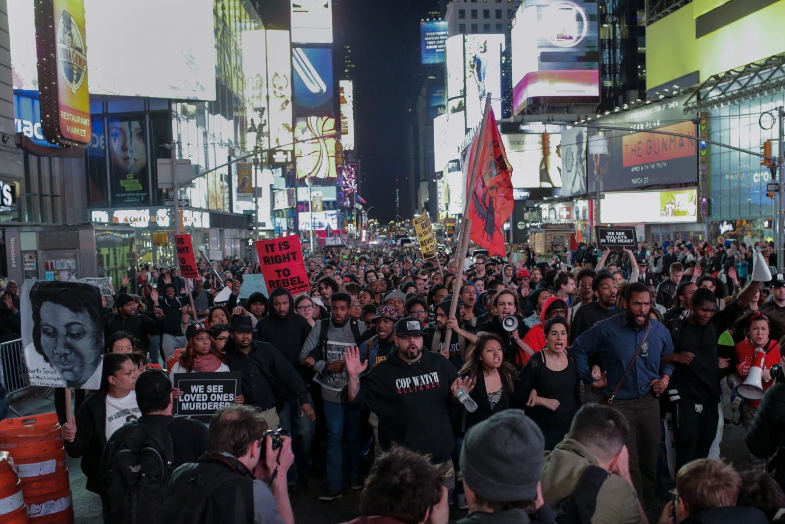 New York Freddie Gray protests