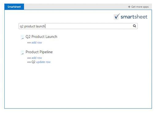 Smartsheet for Outlook beta