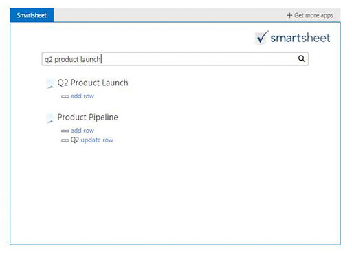 Smartsheet for Outlook beta