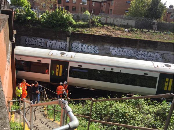 Stranded train at Clapham Junction