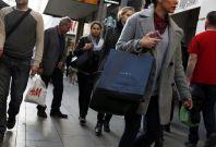 Madrid high street shoppers
