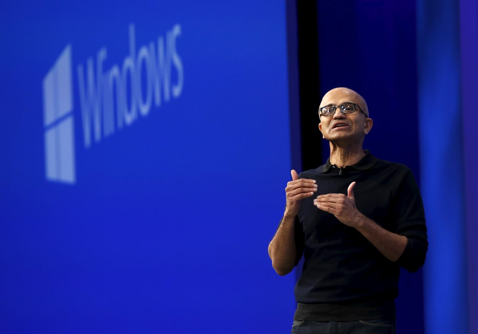 Microsoft CEO Satya Nadella Build 2015