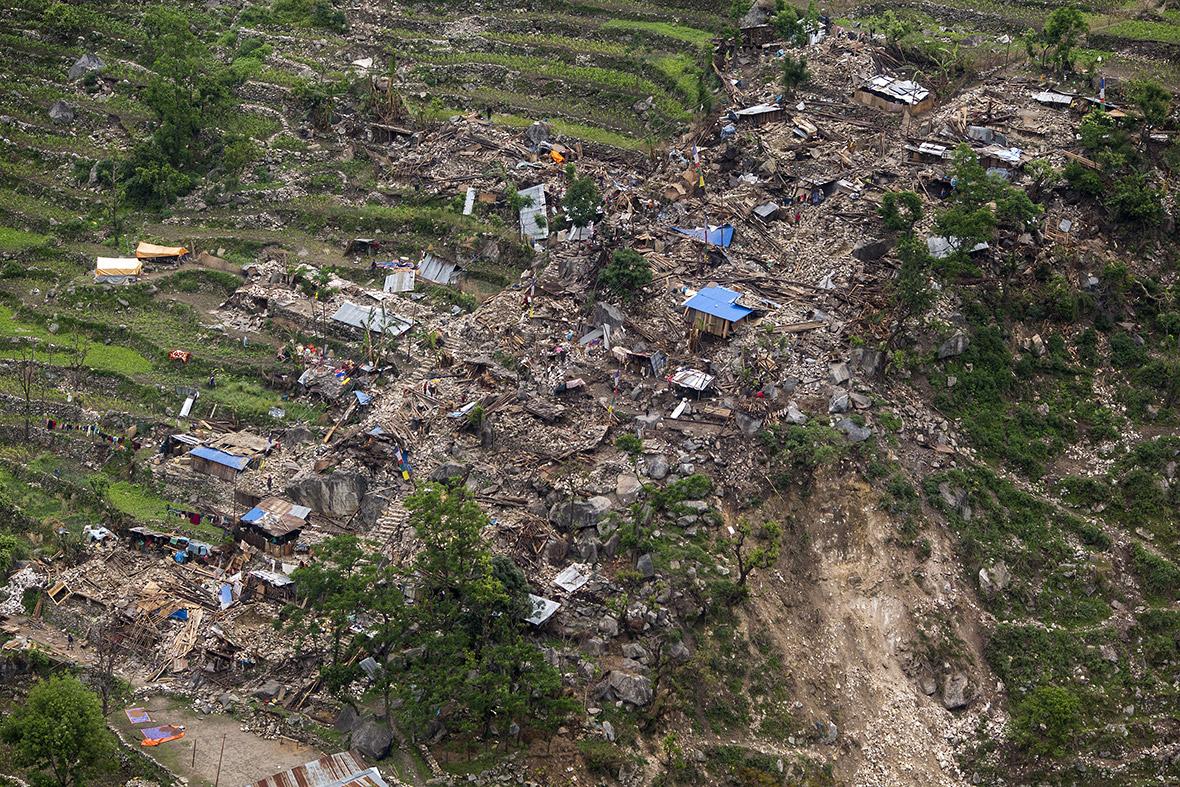Nepal earthquake aerial photos