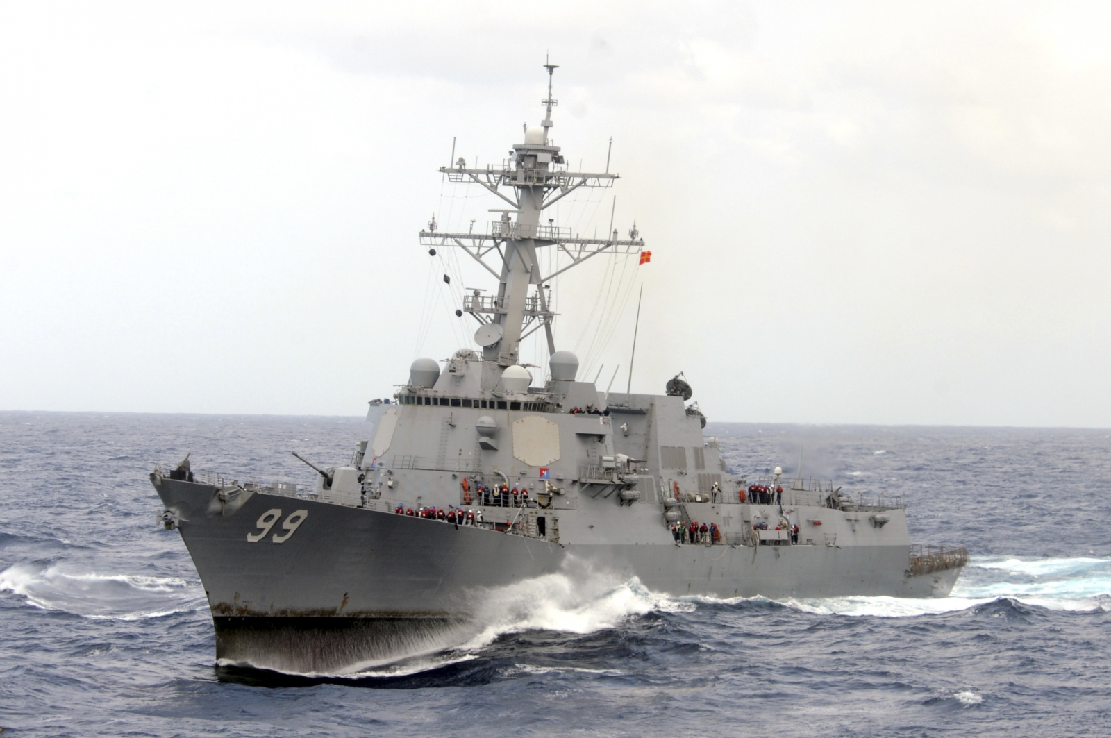 US navy destroyer