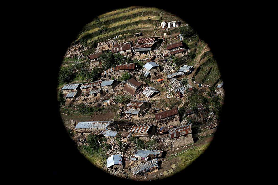 Nepal earthquake aerial photos
