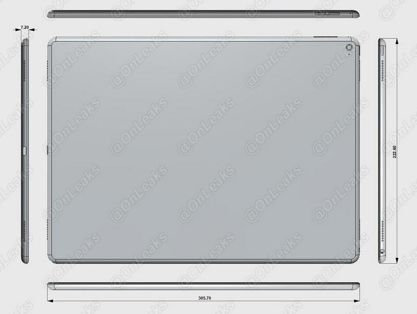 Apple iPad Pro leaked render