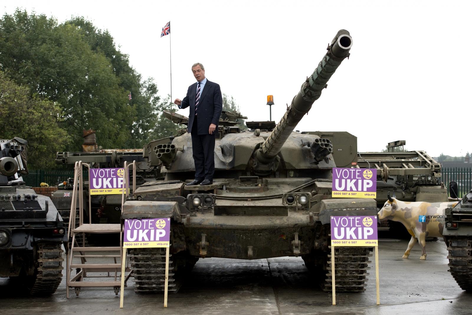 Nigel Farage tank