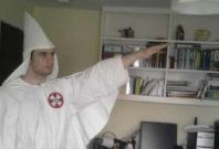 Darren Fletcher kitted out in KKK costume