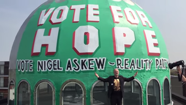 Mosque's election mural breaches rules