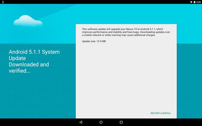 Android 5.1.1 OTA for Nexus 10
