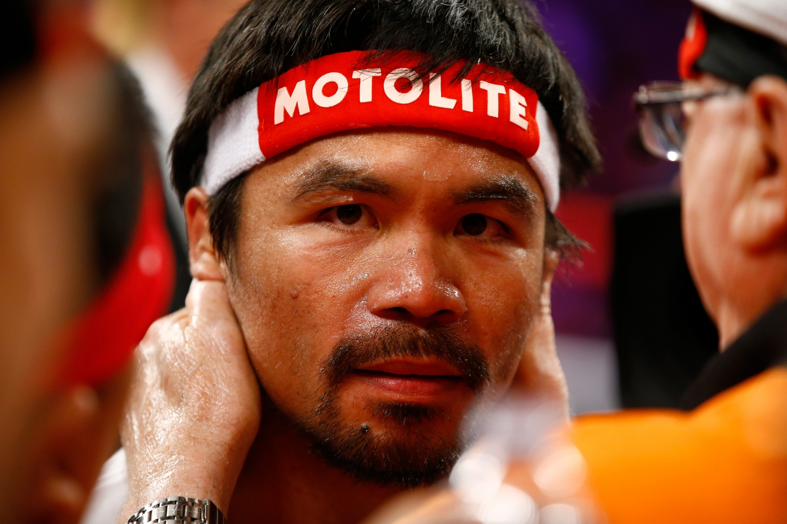 Manny Pacquiao prepares for the fight
