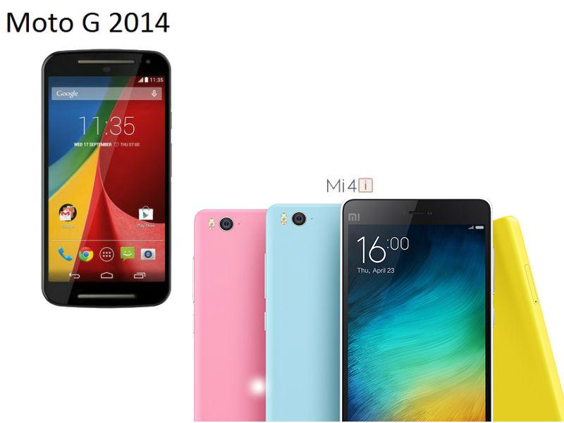 Xiaomi Mi 4i vs Motorola Moto G2014