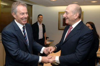 Tony Blair Ehub Olmert