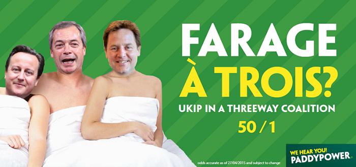 Farage a trois