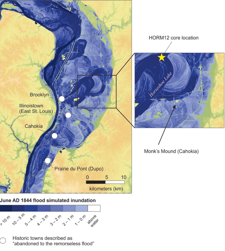 Mississippi megafloods wiped out biggest ancient Native American civilisation of Cahokia