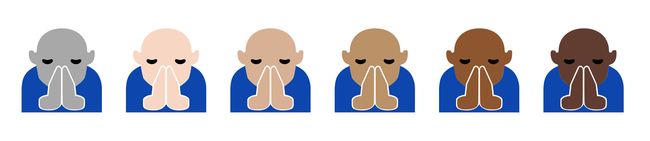 Microsoft's new emoji are in default grey