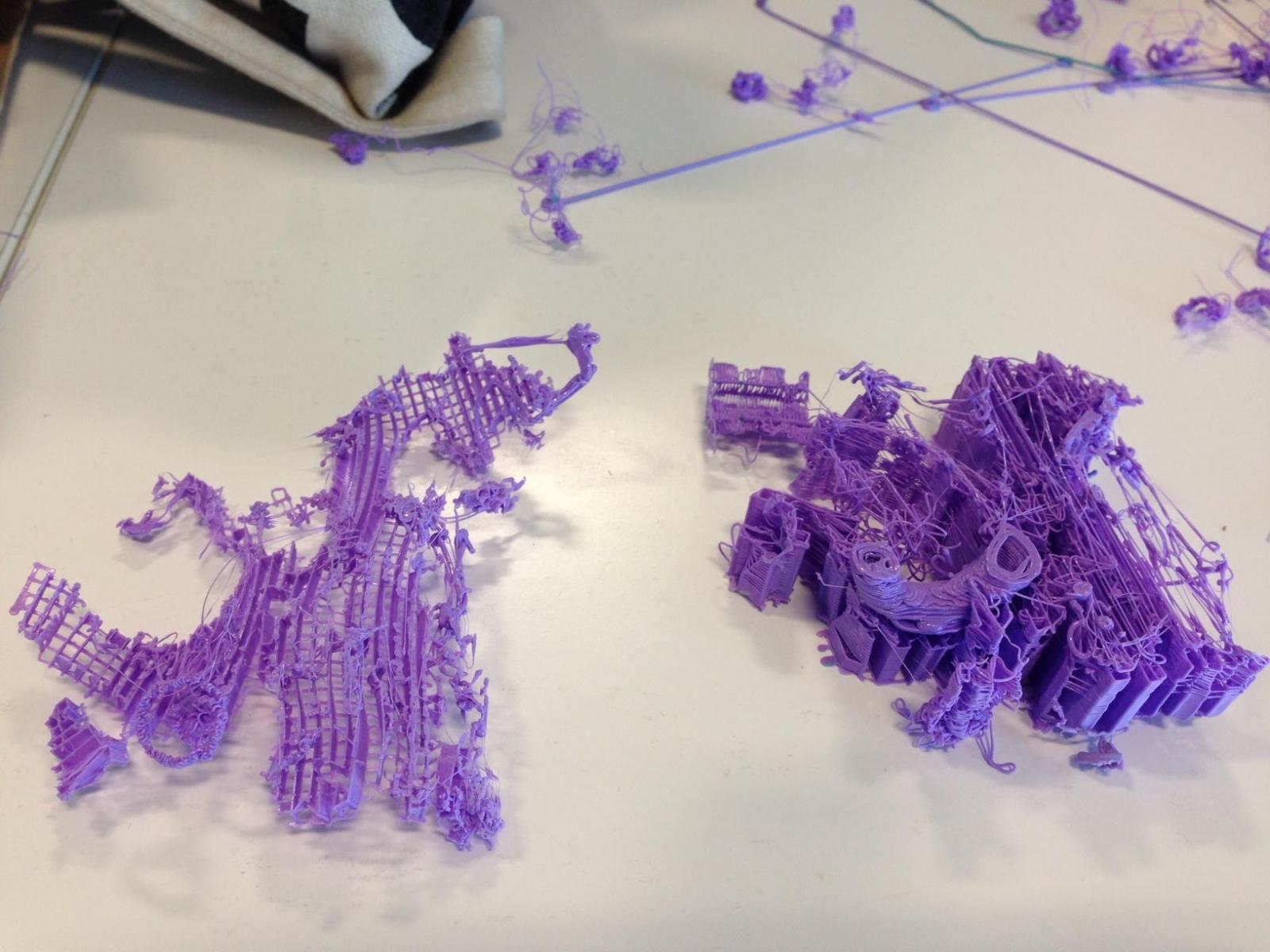 3D printer fail: A dragon
