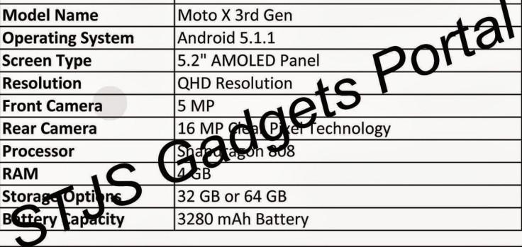Moto X (3rd Gen)