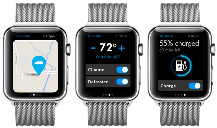 VW Apple Watch app
