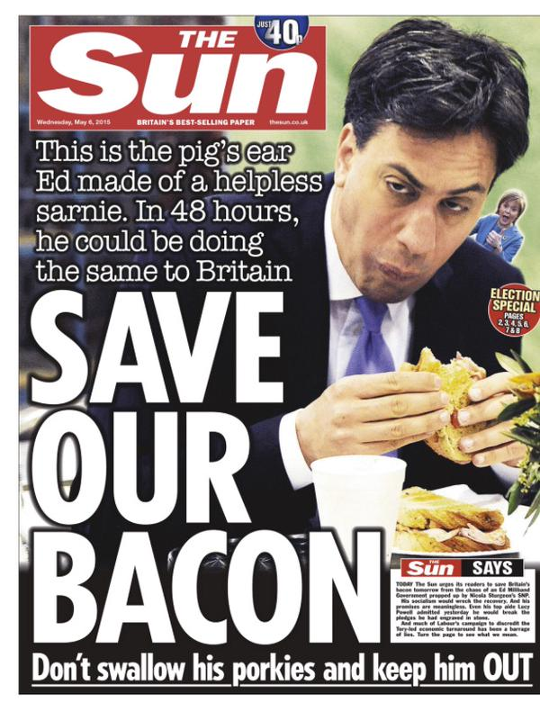 The Sun Ed Miliband front page