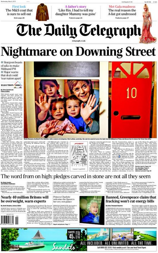 Daily Telegraph front page SNP