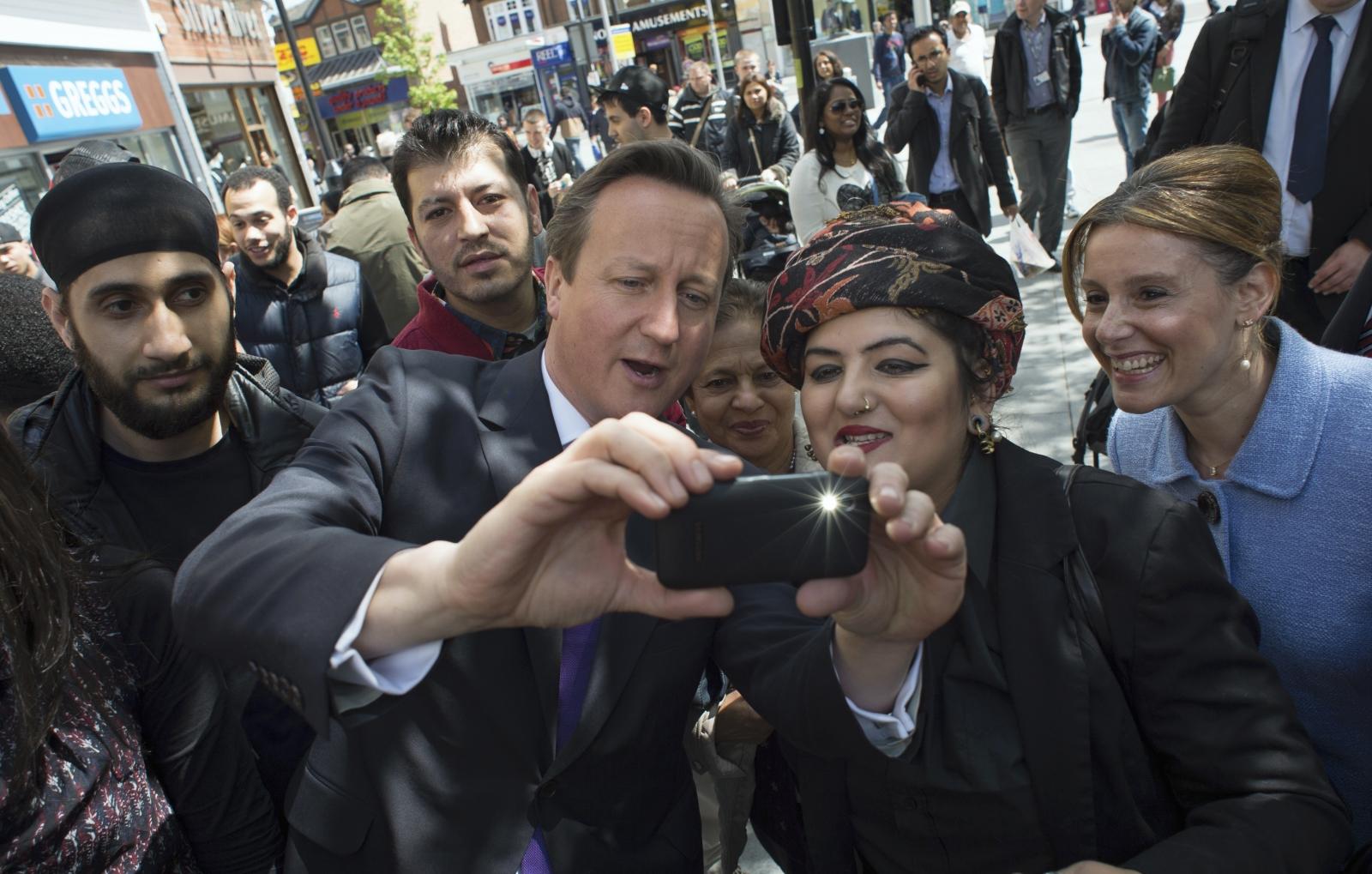 David Cameron taking selfie