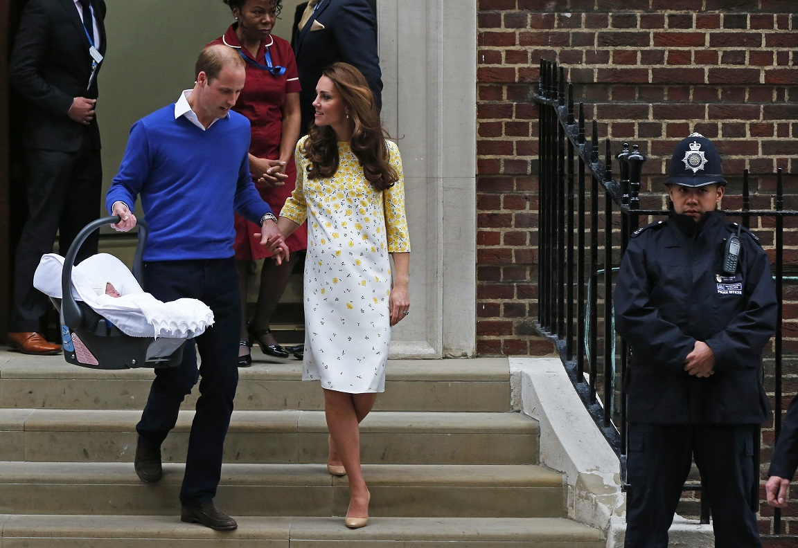 Princess Charlotte Duke And Duchess Of Cambridge Leave