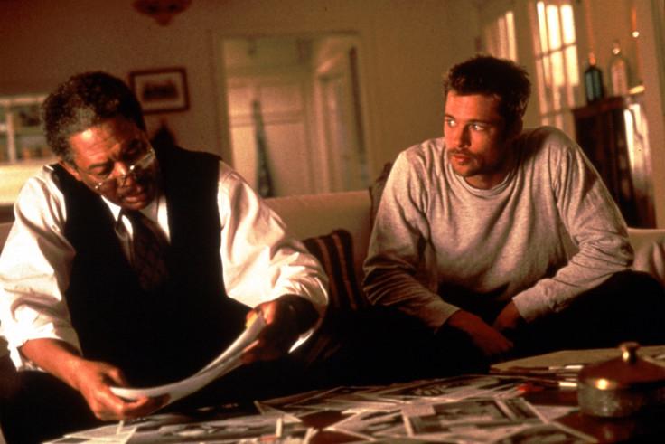 Brad Pitt and Morgan Freeman in Seven