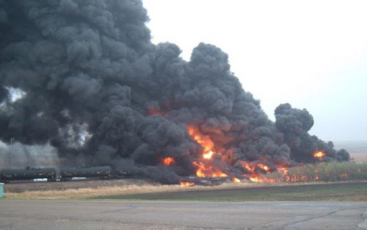 huge oil tanker train