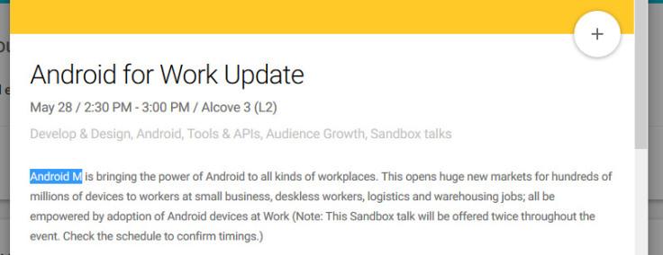 Android M at Google I/O