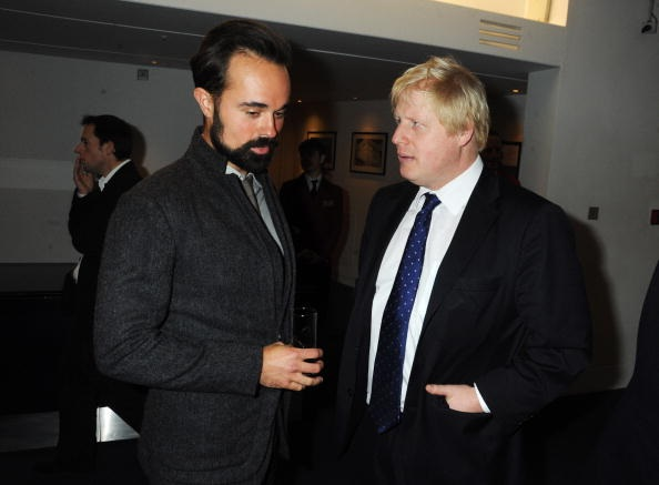 Evgeny Lebedev and Boris Johnson