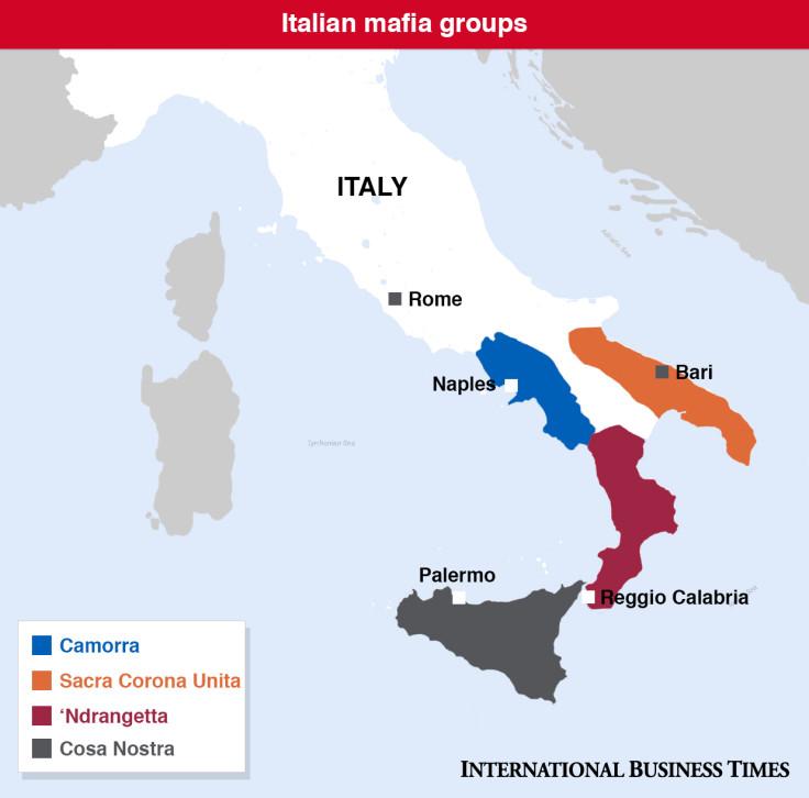 Italian Mafia Map