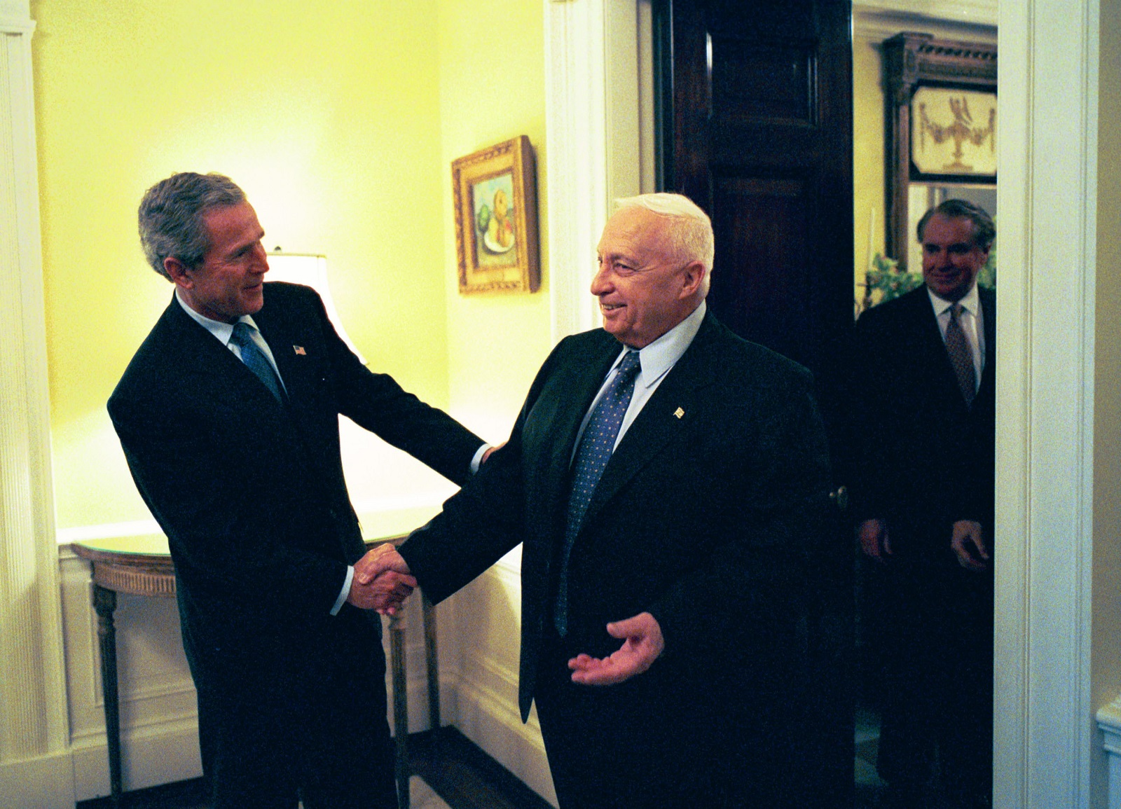 George W. Bush and Ariel Sharon