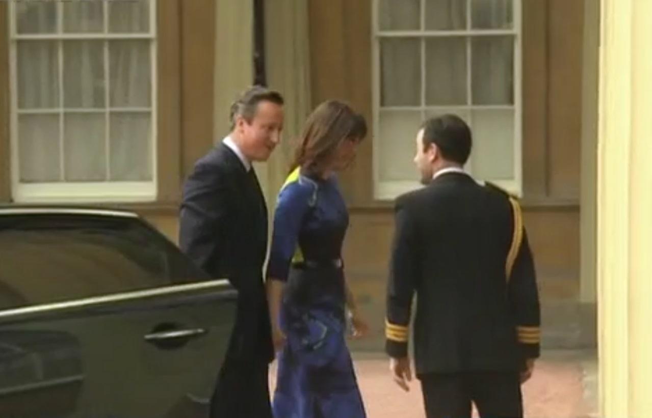 David Cameron arrives at Buckingham Palace