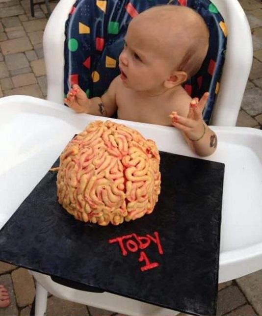 Human Brain cake for toddler
