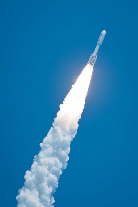 Rocket shoots skyward