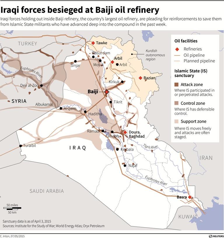 Battle for Baiji Refinery, Iraq