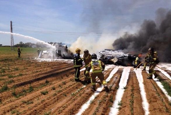 Military airplane crash