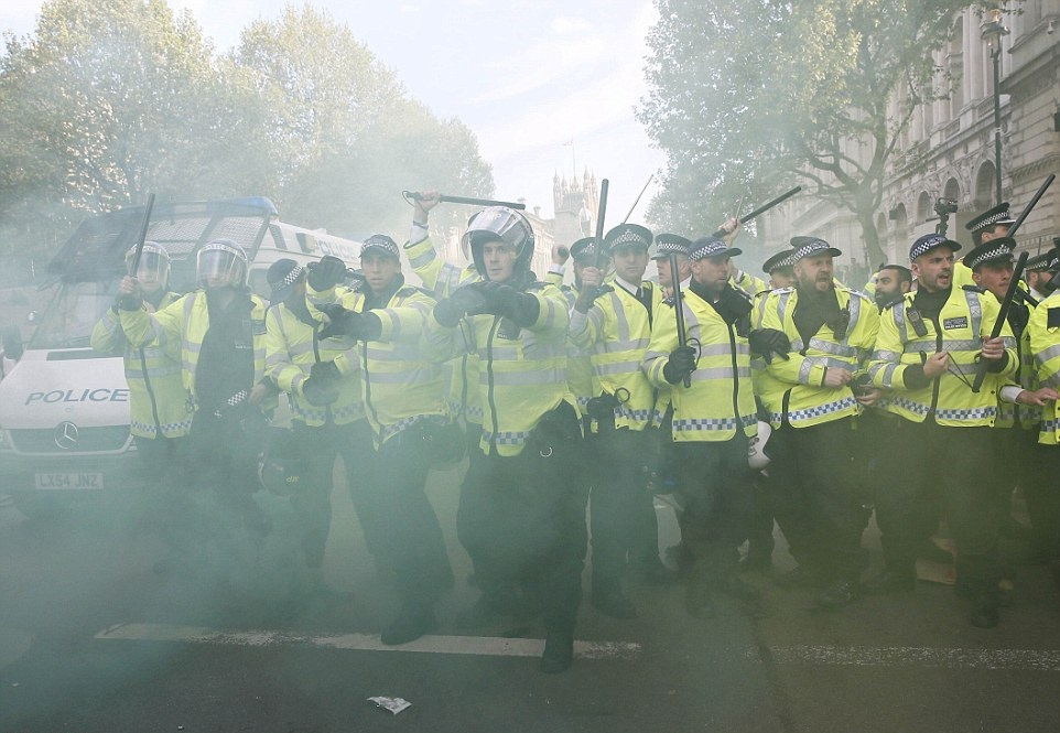 Anti-government protests at Downing Street