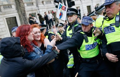 Battles between protestors and police.