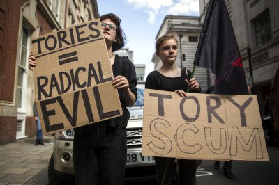Anti-austerity Protest Downing Street 03