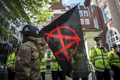 Anti-austerity Protest Downing Street 04