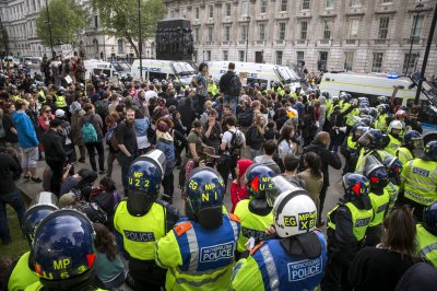 Anti-austerity Protest Downing Street 08