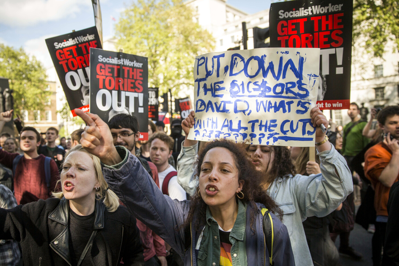 Anti-austerity Protest Downing Street 10